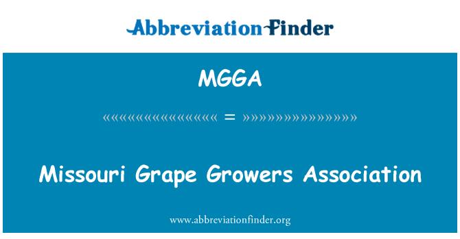 MGGA: Missouri Grape Growers Association