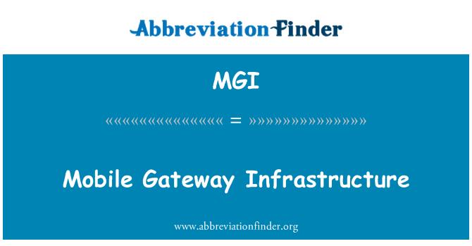 MGI: Mobil ağ geçidi altyapı