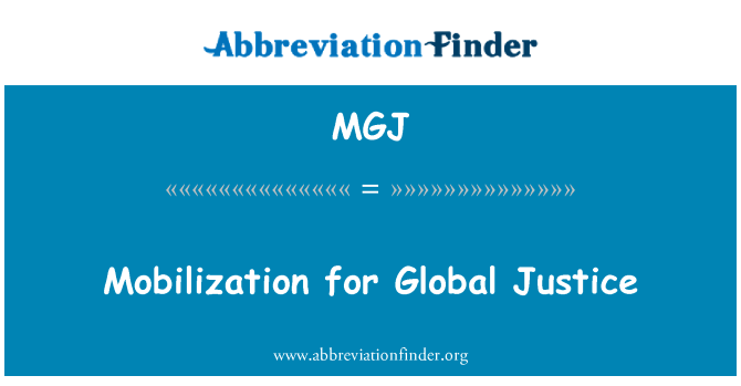 MGJ: Mobilization for Global Justice