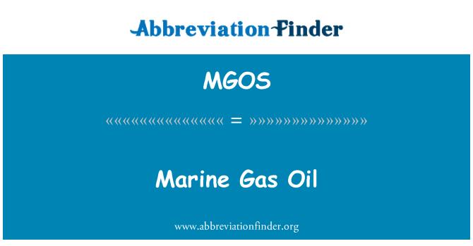MGOS: Gasóleo marino