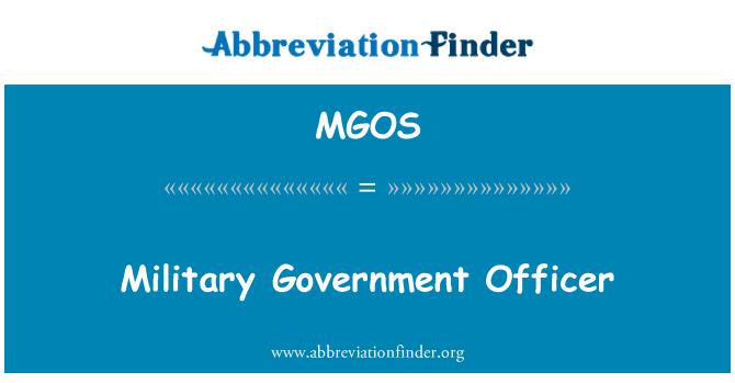 MGOS: Funcionario del gobierno militar