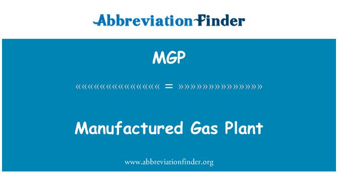 MGP: Manufactured Gas Plant