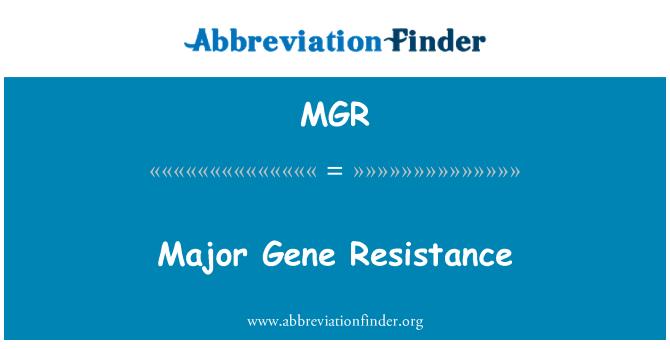 MGR: Major Gene Resistance