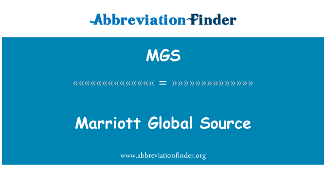 MGS: Marriott Global Source