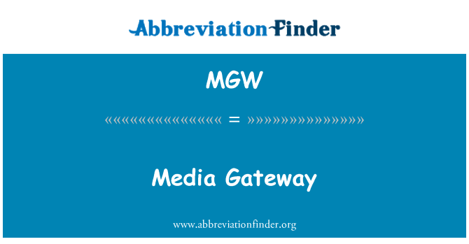 MGW: Media Gateway