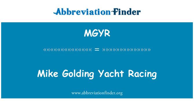 MGYR: Mike Golding Yacht Racing