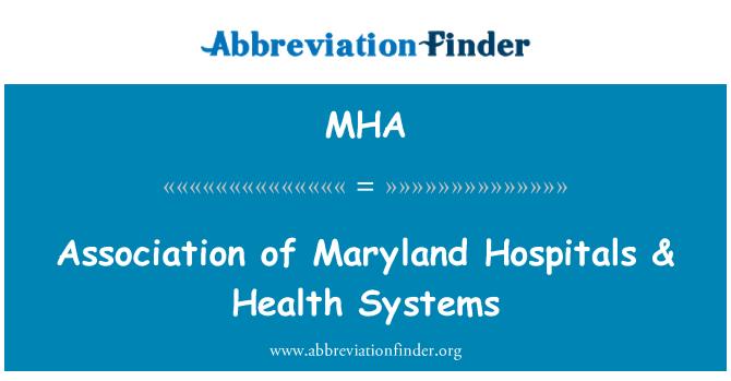 MHA: Association of Maryland Hospitals & Health Systems