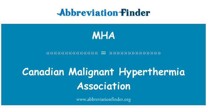 MHA: Canadian Malignant Hyperthermia Association
