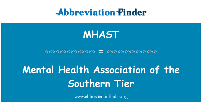 MHAST: 心理健康协会的南部各层