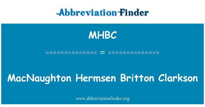 MHBC: MacNaughton Hermsen Britton Clarkson
