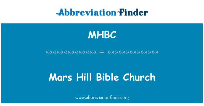 MHBC: Mars Hill İncil Kilisesi