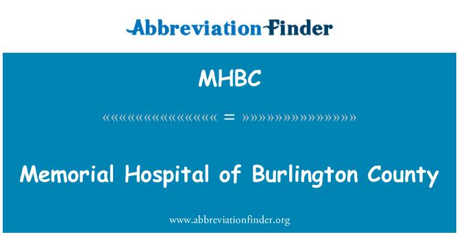 MHBC: Burlington County Memorial Hastanesi