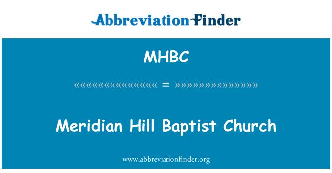 MHBC: Meridyen Hill Baptist Kilisesi