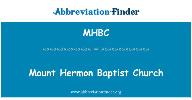 MHBC: Monte Hermon Baptist Kilisesi