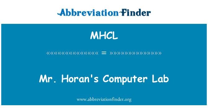 MHCL: Mr. Horan's Computer Lab