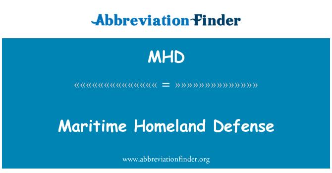 MHD: Maritime Homeland Defense