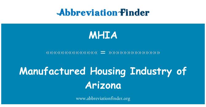 MHIA: Manufactured Housing Industry of Arizona