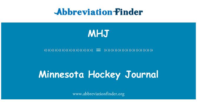 MHJ: Minnesota Hockey Journal