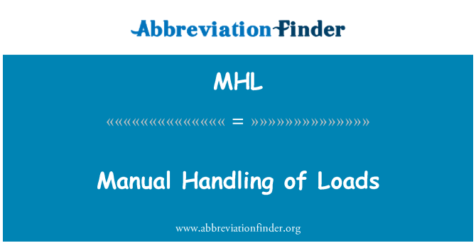 MHL: Manual Handling of Loads