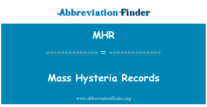 MHR: Mass Hysteria Records