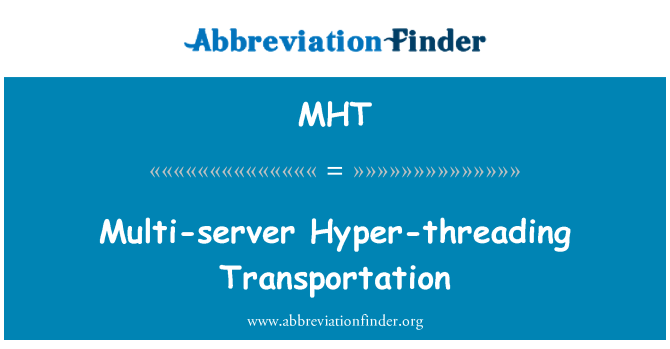 MHT: Multi-server Hyper-threading Transportation