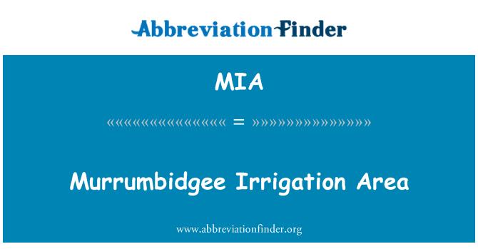 MIA: Murrumbidgee Irrigation Area