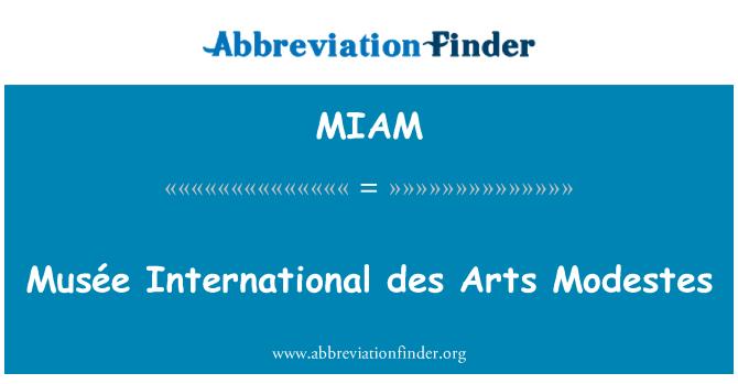 MIAM: Musée International des Arts Modestes