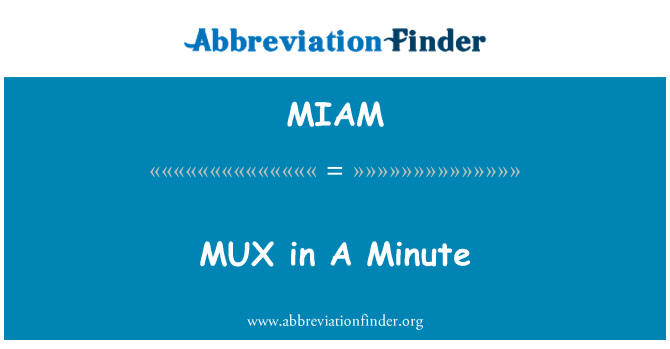MIAM: MUX in A Minute