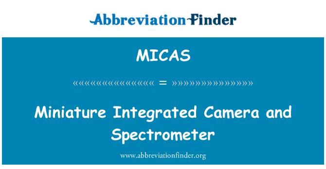 MICAS: Miniature Integrated Camera and Spectrometer