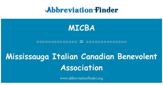 MICBA: Mississauga Italian Canadian Benevolent Association