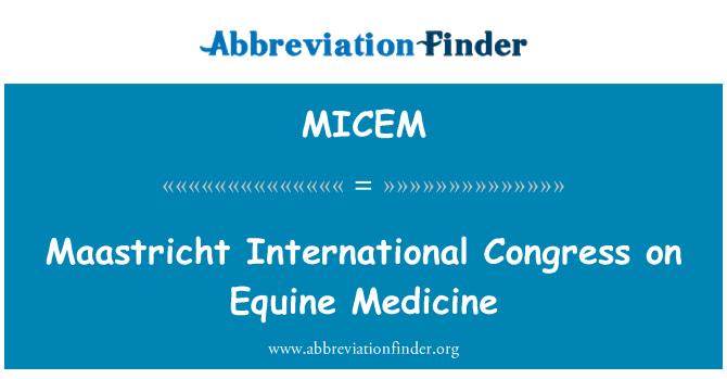 MICEM: Maastricht International Congress on Equine Medicine