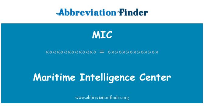 MIC: Maritime Intelligence Center