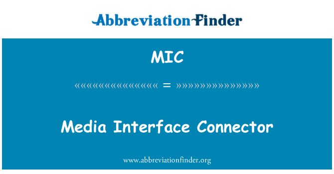 MIC: Media Interface Connector