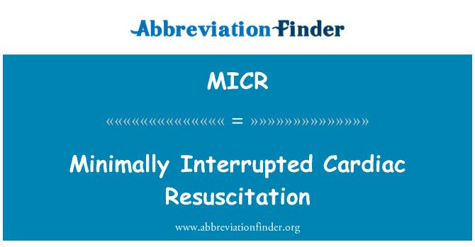 MICR: Resucitación cardiaca mínimamente interrumpida
