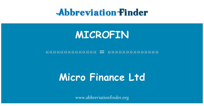 MICROFIN: Micro Finance Ltd