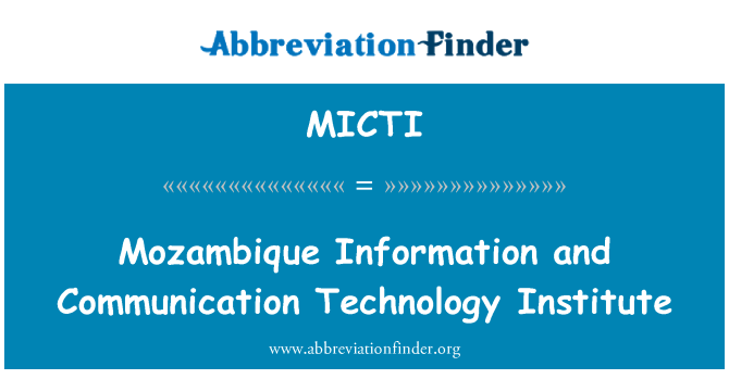 MICTI: Mozambique Information and Communication Technology Institute