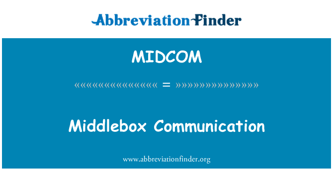 MIDCOM: Middlebox Communication