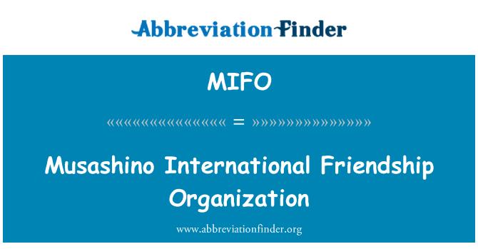 MIFO: Musashino International Friendship Organization