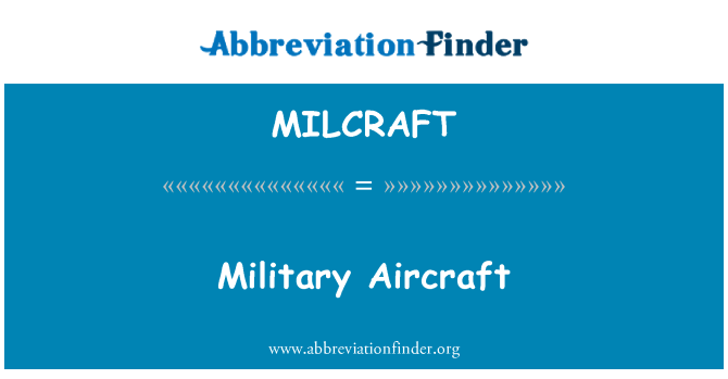 MILCRAFT: Military Aircraft