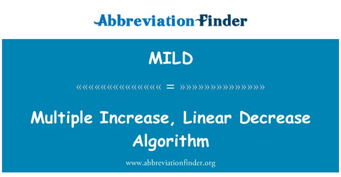 MILD: Aumento múltiple, algoritmo de descenso lineal