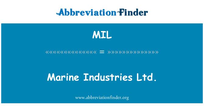 MIL: Marine Industries Ltd.