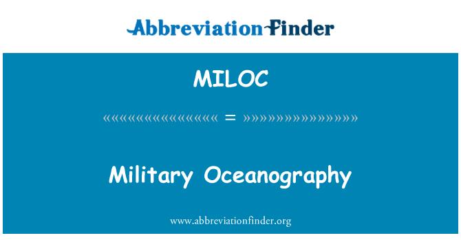 MILOC: Askeri oşinografi