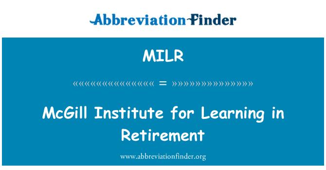 MILR: McGill Institut pembelajaran dalam persaraan