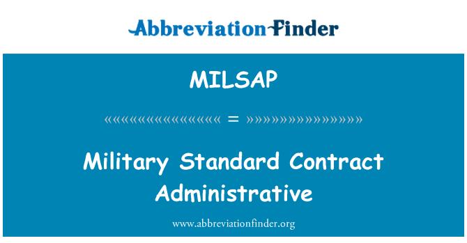 MILSAP: Vojni standardni ugovor administrativne