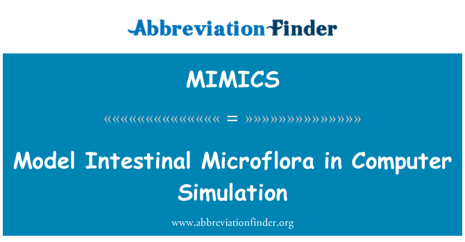 MIMICS: Model Intestinal Microflora in Computer Simulation