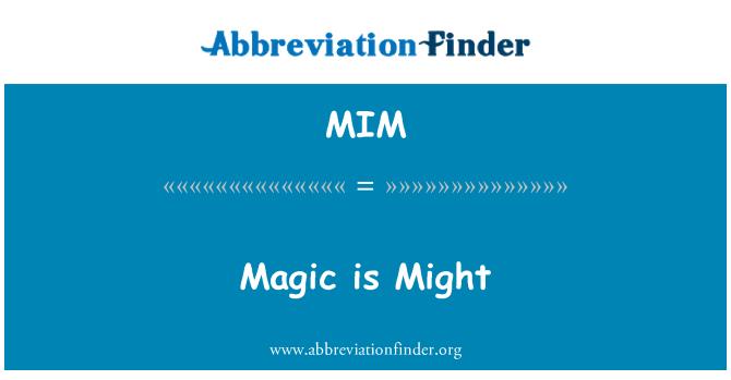MIM: Magic is Might