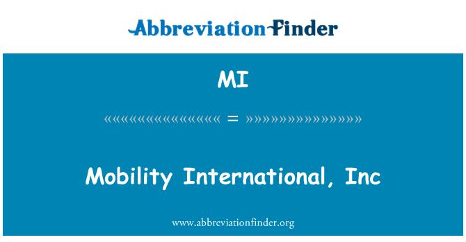MI: Mobility International, Inc