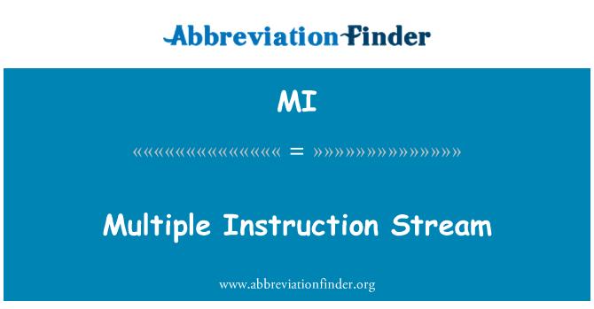MI: Multiple Instruction Stream