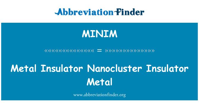 MINIM: Metal Insulator Nanocluster Insulator Metal