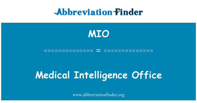 MIO: Medical Intelligence Office